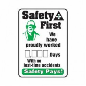 Accuform® MSR260PL Safety Sign, 28 in H x 20 in W, Wall Mount, 0.125 in Plastic