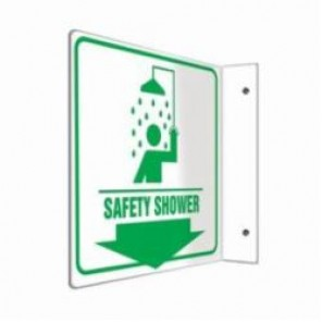Accuform® PSP704 90D Projection Sign, 8 in H x 8 in W, 0.10 in Plastic