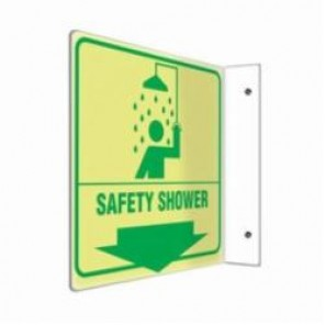 Accuform® PSP978 90D Projection Sign, 8 in H x 8 in W, 0.10 in Lumi-Glow Plastic