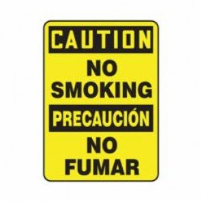 Accuform® SBMSMK622XV Caution Sign, 14 in H x 10 in W, 6 mil Adhesive Dura-Vinyl