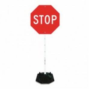 Accuform® HSP800 Portable Sign Stand, Black, White Powder Coated Steel