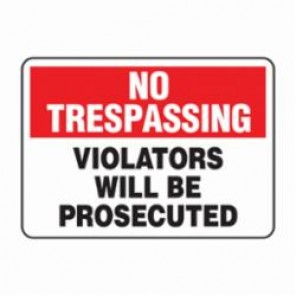 Accuform® MATR901VS Security Sign, 7 in H x 10 in W, Adhesive Vinyl