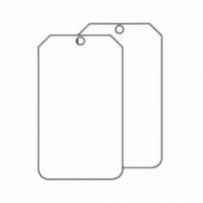 Accuform® MDT520PTP Hazard Sign Blank Tag, 6 in H x 3-1/2 in W, 3/8 in, White, Plastic