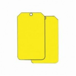 Accuform® MDT524PTP Hazard Sign Blank Tag, 6 in H x 3-1/2 in W, 3/8 in, Yellow, Plastic