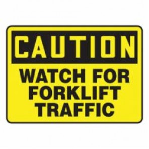 Accuform® MVHR631VP Caution Sign, 7 in H x 10 in W, Black on Yellow, Surface Mount, Plastic