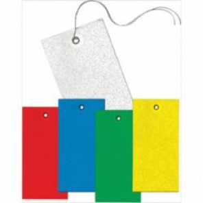 Accuform® TBB925BUP Light Weight Blank Tag, 2-3/8 in H x 4-3/4 in W, 3/16 in, Red, DuPont® Tyvek®