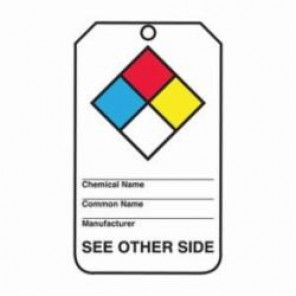 Accuform® THS101CTP Hazardous Material Tag, 3/8 in Hole, PF-Cardstock