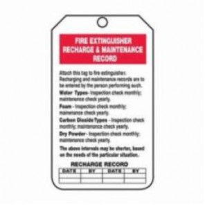Accuform® TRS211CTP Fire Extinguisher Tag, 3/8 in Hole, PF-Cardstock