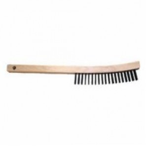 PFERD 85003 Scratch Brush With Scraper, 6-1/4 in Brush, 13-3/4 in L x 5/8 in W Block, 1-3/16 in Carbon Steel Trim