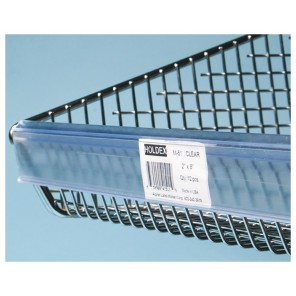"CLIP-LABEL™ FOR WIRE BASKETS, Clip Label™, Clear, Size: 1-1/4"" x 16-1/2"", Qty./Pkg.: 12"