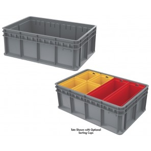 MULTI-LOAD TOTE, Sorting Cup - 1/8 cup, Yellow, Overall Size L x W x H: 7-1/4 x 5-3/8 x 8-9/32""