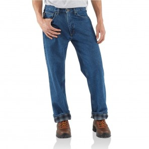 Men's Carhartt Relaxed Fit Straight-Leg Flannel-Lined Jean