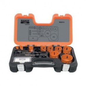 Bahco® 862013 Professional Hole Saw Set, 13 Pieces, For Use With 9/16 to 13/16 in and 1-1/4 to 6 in Hole Saws