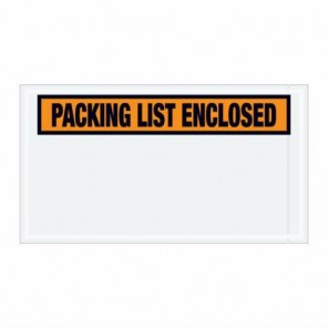 "5-1/2"" x 10""  Orange 'Packing List Enclosed' Envelopes"