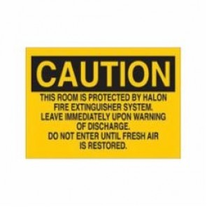 Brady® 89110 Fire Sign, 7 in H x 10 in W, Black on Yellow, Surface Mount, B-302 Polyester