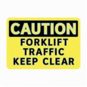 Brady® 102460 Caution Sign, 7 in H x 10 in W, Black on Yellow, Self-Adhesive/Surface Mount, Glow-In-The-Dark Polystyrene