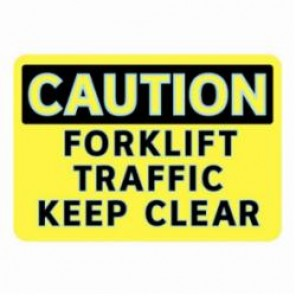 Brady® 102470 FireFly® Caution Sign, 7 in H x 10 in W, Black/Yellow, Surface Mount, Glow-In-The-Dark Aluminum