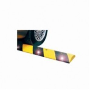 Brady® 103825 Striped Reflective Speed Bump With Spikes, 4 ft L x 12 ft W x 2-1/2 in H, Black/Yellow, Recycled Rubber