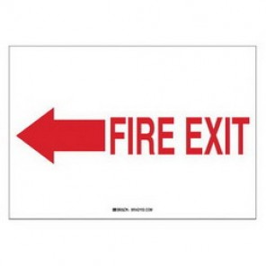 Brady® 104930 Fire Sign, 10 in H x 7 in W, Red on White, Surface Mount, B-401 Plastic