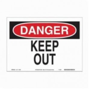 Brady® 115969 Eco-Friendly Rectangle Danger Sign, 7 in H x 10 in W, Black/Red on White, Surface Mount, B-586 Paper