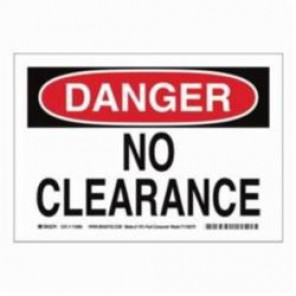 Brady® 116151 Eco-Friendly Rectangle Danger Sign, 10 in H x 14 in W, Black/Red on White, Surface Mount, B-563 Plastic