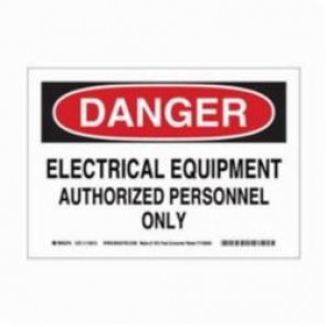 Brady® 116012 Eco-Friendly Rectangle Danger Sign, 7 in H x 10 in W, Black/Red on White, Surface Mount, B-586 Paper