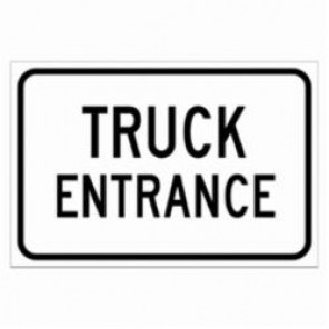 Brady® 124418 Laminated Rectangle Traffic Control Sign, 12 in H x 18 in W, Black on White, B-302 Polyester