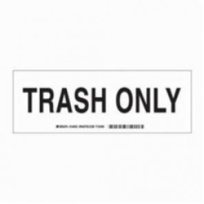 Brady® 124633 Laminated Rectangle Recycle and Environment Sign, 3-1/2 in H x 10 in W, Black on White, Self-Adhesive/Surface Mount, B-302 Polyester