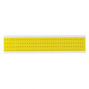 Brady® 1500-DSH 15 Series Standard Symbol Label, 1/4 in DASH Character, 3/8 in H x 1/4 in W, Black on Yellow