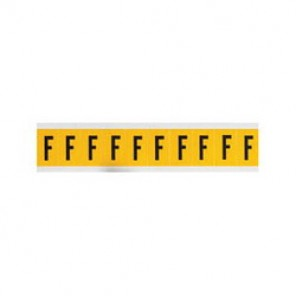Brady® 1500-F 15 Series Standard Letter Label, 1/4 in F Character, 3/8 in H x 1/4 in W, Black on Yellow