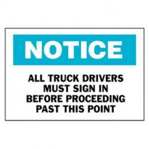 Brady® 40699 Admittance Sign, 7 in H x 10 in W, Black/Blue on White, Surface Mount, B-555 Aluminum