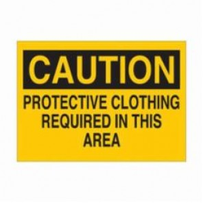 Brady® 22416 Caution Sign, 10 in H x 14 in W, Black/Yellow, Surface Mount, B-401 Plastic