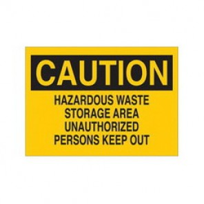 Brady® 22710 Chemical & Hazardous Material Sign, 10 in H x 14 in W, Black on Yellow, Surface Mount, B-401 Plastic