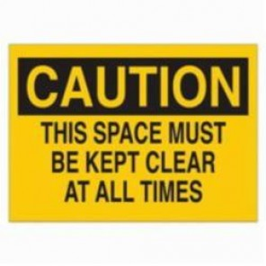Brady® 22773 High Impact Rectangle Maintenance Sign, 10 in H x 14 in W, Black on Yellow, Surface Mount, B-401 Plastic