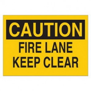 Brady® 25640 Fire Sign, 7 in H x 10 in W, Black on Yellow, Surface Mount, B-401 Plastic