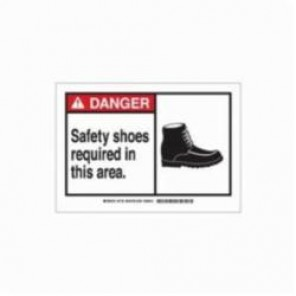 Brady® 21726 Rectangle Danger Sign, 7 in H x 10 in W, Black/Red on White, Surface Mount, B-401 Plastic