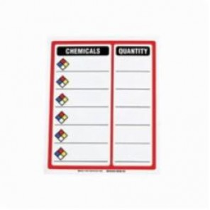 Brady® 30676 NFPA Contents Sign, 15 in H x 12 in W, Black/Red/Blue/Yellow on White, Magnetic