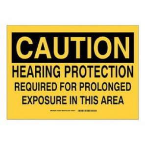 Brady® 33659 Laminated Protective Wear Sign, 10 in H x 14 in W, Black on Yellow, Surface Mount, B-555 Aluminum
