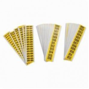 Brady® 34253 Seriesystem® Consecutive Number Label Kit, 5/8 in 001 to 999 Character, 3/4 in H x 1-1/2 in W, Black on Yellow