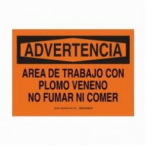 Brady® 38286 Rectangle Caution Sign, 7 in H x 10 in W, Black on Orange, B-555 Aluminum