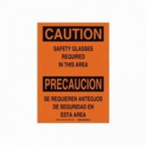 Brady® 38689 Rectangle Caution Sign, 10 in H x 14 in W, Black on Orange, Surface Mount, B-401 Plastic