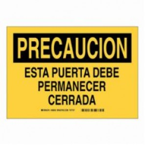 Brady® 38836 Safety Sign, 10 in H x 14 in W, Black on Yellow, B-401 High Impact Polystyrene