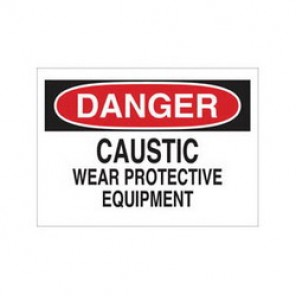 Brady® 40873 Chemical & Hazardous Material Sign, 7 in H x 10 in W, Black/Red on White, Surface Mount, B-555 Aluminum