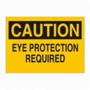 Brady® 22399 Rectangle Caution Sign, 7 in H x 10 in W, Black on Yellow, Surface Mount, B-401 Plastic