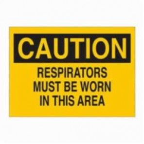 Brady® 22419 Rectangle Confined Space Sign, 10 in H x 14 in W, Black on Yellow, Surface Mount, B-401 Plastic