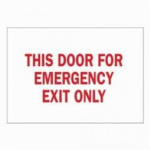 Brady® 22503 Rectangle Door Sign, 7 in H x 10 in W, Red on White, Surface Mount, B-401 Plastic