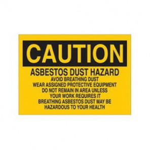 Brady® 41264 Chemical & Hazardous Material Sign, 10 in H x 14 in W, Black on Yellow, Surface Mount, B-555 Aluminum