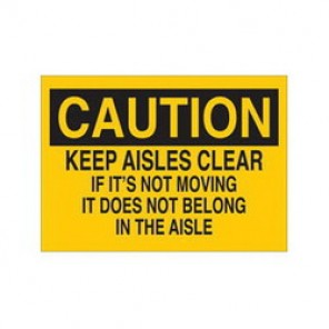 Brady® 43331 Maintenance Sign, 10 in H x 14 in W, Black on Yellow, Surface Mount, B-555 Aluminum
