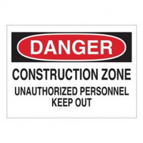 Brady® 43382 Traffic Sign, 10 in H x 14 in W, Black/Red on White, Surface Mount, B-555 Aluminum