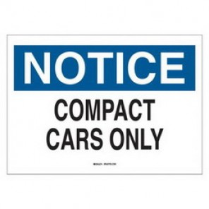 Brady® 43400 Traffic Sign, 10 in H x 14 in W, Black/Blue on White, Surface Mount, B-555 Aluminum